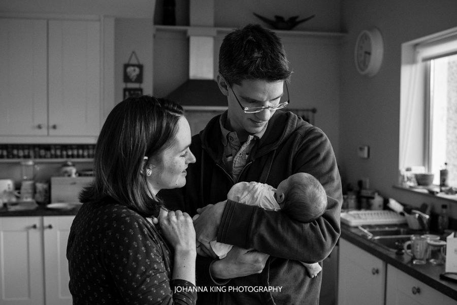 Newborn home documentary session Dublin