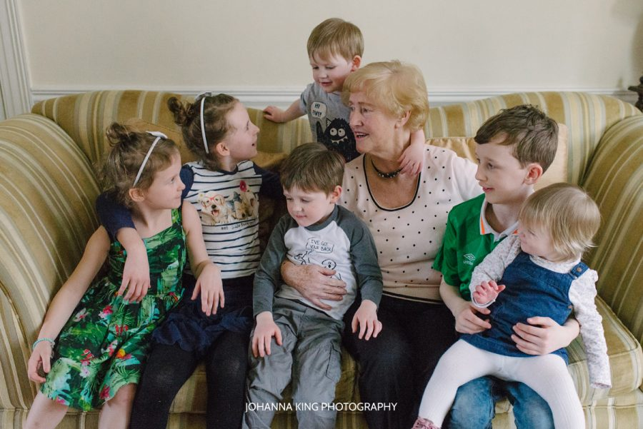 Grandchildren at their grandma's house