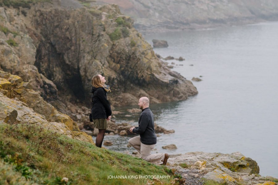 Misty Proposal on Dublin Cliffs Ireland